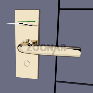 Door lock with magnetic card