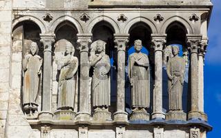 Detail of the cathedral of Chartres, Eure-et-Loir, centre-val de loire, France