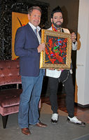 Designer Harald Glööckler presents his paintings