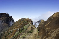 blue sky at the pico arieiro on madeira island
