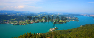 Lake Woerthersee at Carinthia Austria