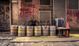 Bar Alley Beer Barrels