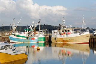 Fischerboote im Hafen von Padstow