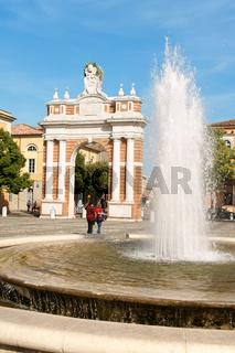 Piazza Marconi in Santarcangelo di Romagna, Italy