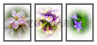 triptych flowers