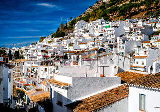 Day view of Mijas. Mijas is a lovely Andalusian town on the Costa del Sol. Spain