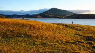panorama landscape, Dalat, Da Lat, Vietnam, lake, grass