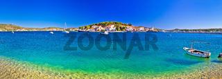 Rogoznica coast and beach panoramic view
