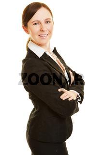 Bewerbungsfoto einer erfolgreichen Geschäftsfrau