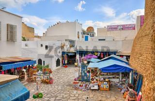 HAMMAMET, TUNISIA - OCT 2014: Bazaar Market Fair on October 6, 2