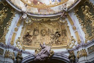 Barockrelief in der Klosterkirche Weltenburg an der Donau