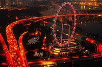 Huge Singapore Ferries Wheel