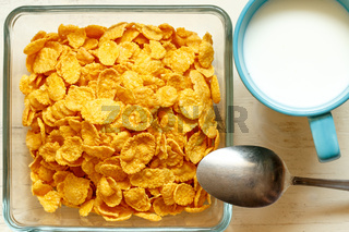 Close up of cornflakes