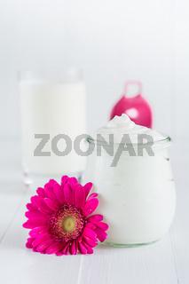 Joghurt in einem Glas