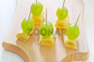 canape with drape and cheese