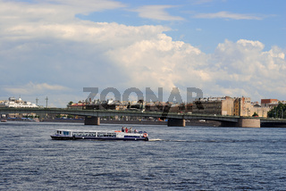 Pleasure boat on the Neva.