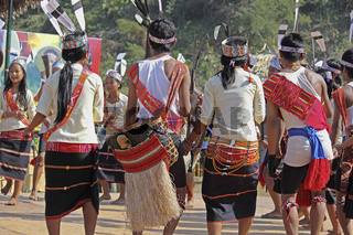 Wancho tribes performing dance