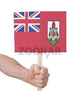 Hand holding small card - Flag of Bermuda