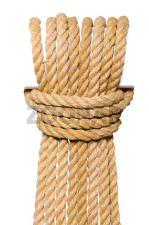 The rope isolated on the white background