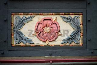 Fachwerkdetail in Schwalenberg (Lippische Rose)
