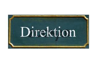 schild Direktion