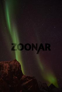 Nordlicht (Aurora borealis), Reine, Lofoten, Norwegen