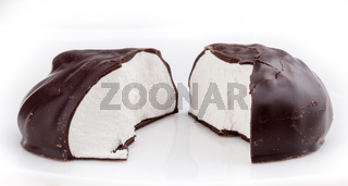 Chocolate glazed zephyre