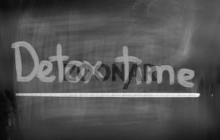 Detox Time Concept