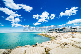 breakwater in the Adriatic Sea