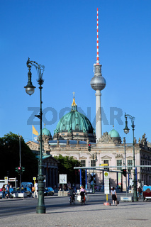 Berlin Catherdral and TV Tower, Berlin, Germany.