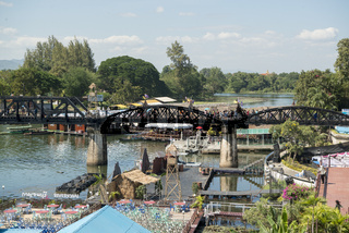 THAILAND KANCHANABURI DEATH RAILWAY BRIDGE RIVER KWAI