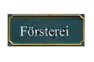 schild Foersterei