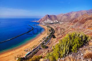 Beach Teresitas in Tenerife - Canary Islands
