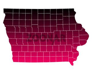 Karte von Iowa - Map of Iowa
