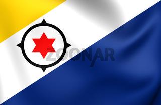 Flag of Bonaire. Close Up.