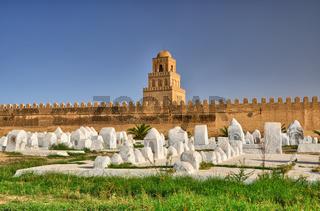 Ancient muslim cemetery, Great Mosque, Kairouan, Sahara Desert,