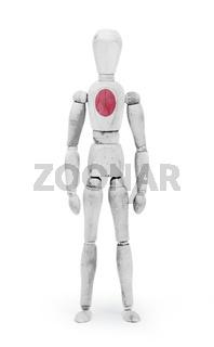 Wood figure mannequin with flag bodypaint - Japan