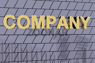 House facade with golden lettering 'Company'