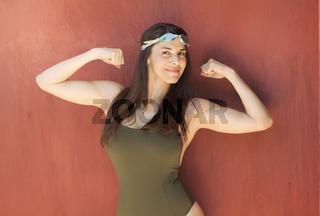 Cute latin girl in summer