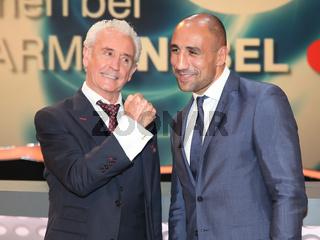 Sänger Tony Christie und Boxer Arthur Abraham bei 'Willkommen bei Carmen Nebel' am 19.9.15 in Berlin