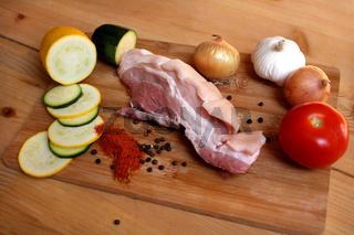 Bauchfleisch vom Landmetzger mise en place
