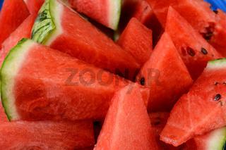 Watermelon Wedges Closeup