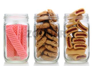 Three Cookie Jars