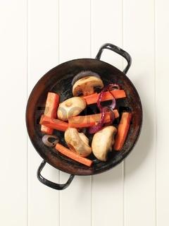 Pan seared vegetables