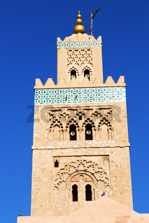 in maroc minaret and the blue    sky