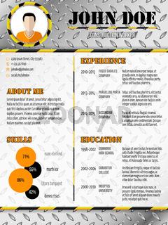 Cool industrial design curriculum vitae resume
