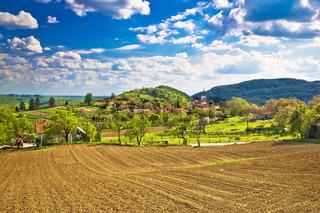 Idyllic Prigorje mountain village of Apatovec