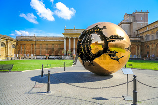 Sphere within sphere in Vatican Museums