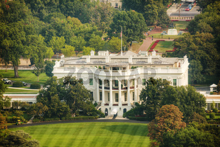 The White Hiuse aerial view in Washington, DC
