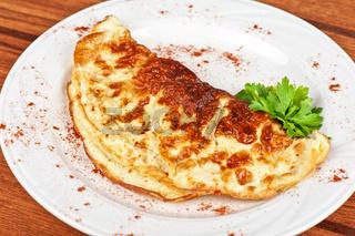 scrambled eggs dish
